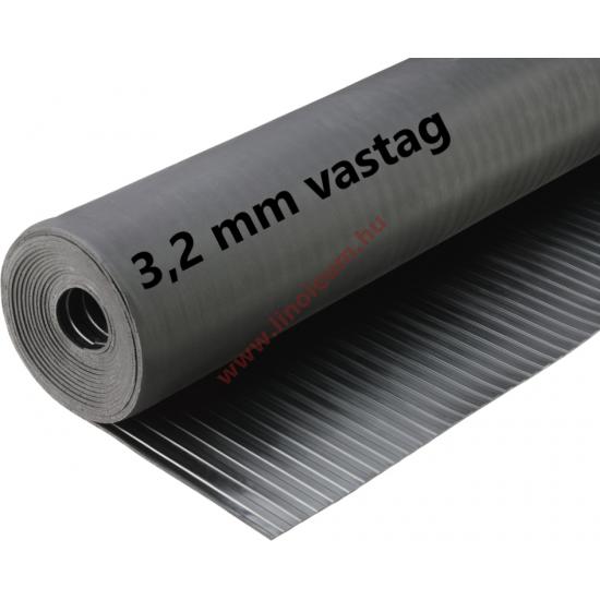 Gumiszőnyeg széles bordás kivitel 3,2 mm: gumi szőnyeg, csúszásgátló gumiszőnyeg