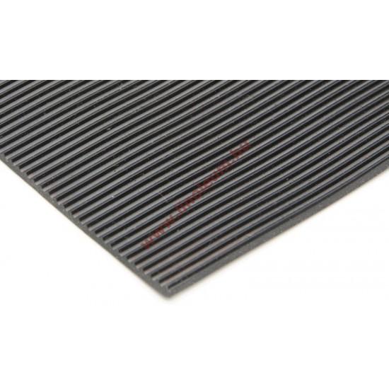 Gumiszőnyeg sűrű bordás kivitel 4 mm: gumi szőnyeg, csúszásgátló gumiszőnyeg