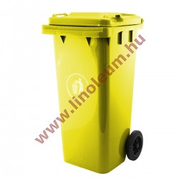 120 literes kerekes szemetes kuka – sárga