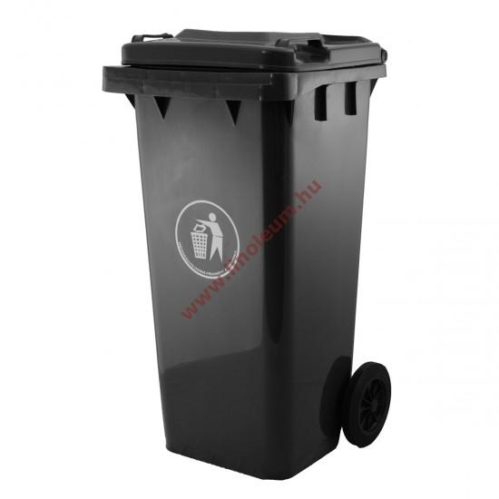 szemetes, hulladék gyűjtő, kuka,120 literes műanyag hulladéktároló