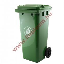 120 literes kerekes szemetes kuka – zöld