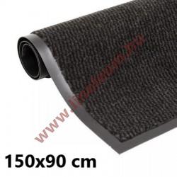 Négyszögletes szennyfogó szőnyeg 90 x 150 cm antracit szürke